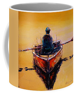 An Old Wooden Boat Coffee Mug by Jean Cormier