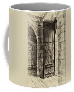An Open Door  Antiqued Coffee Mug