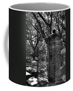 Coffee Mug featuring the photograph An Open Gate 2 Bw by Mel Steinhauer