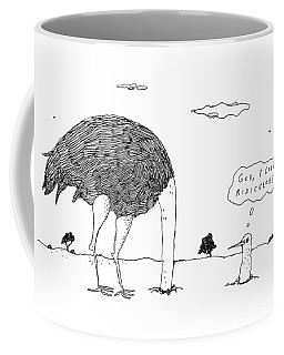 An Ostrich, With Its Head In The Ground, Peaks Coffee Mug