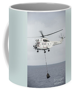 An Sa-330 Puma Transport Helicopter Coffee Mug