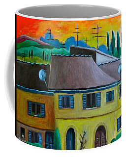 Ancient Volterra Wired Coffee Mug by Victoria Lakes