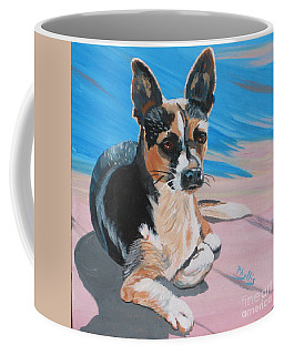 Coffee Mug featuring the painting Ancho A Portrait Of A Cute Little Dog by Phyllis Kaltenbach