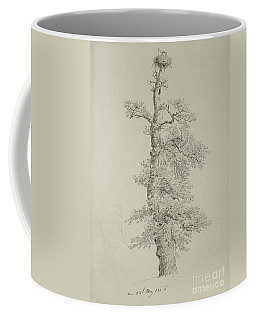 Ancient Oak Tree With A Storks Nest Coffee Mug