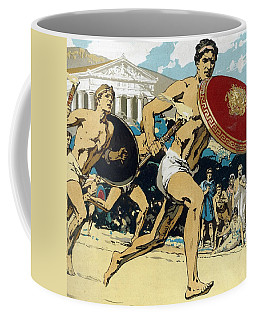 Ancient Olympic Games  The Relay Race Coffee Mug