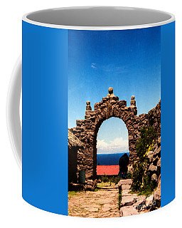 Coffee Mug featuring the photograph Ancient Portal by Suzanne Luft