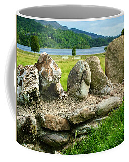 Ancient Stone Wall At Loch Achray Coffee Mug