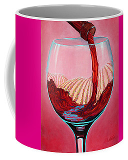 Coffee Mug featuring the painting ...and Let There Be Wine by Sandi Whetzel