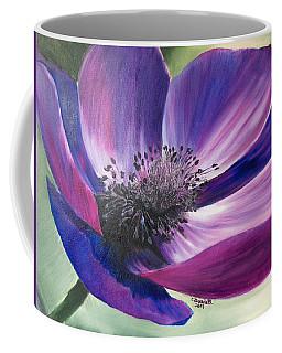Anemone Coronaria Coffee Mug by Claudia Goodell