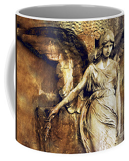 Angel Art - Surreal Gothic Angel Art Photography Dark Sepia Golden Impressionistic Angel Art Coffee Mug