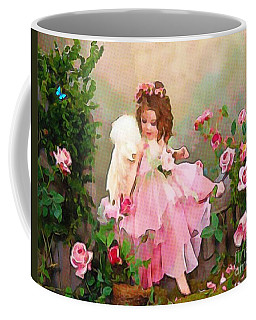 Coffee Mug featuring the painting Angel And Baby  by Catherine Lott