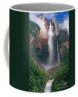 Coffee Mug featuring the photograph Angel Falls In Venezuela by Dave Welling