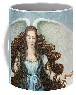 Angel In A Blue Dress Coffee Mug