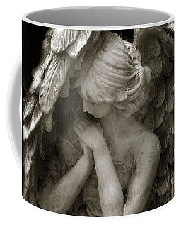 Angel Photography - Dreamy Spiritual Angel Art - Guardian Angel Art In Prayer  Coffee Mug