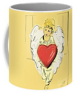 Angel Red Heart Coffee Mug