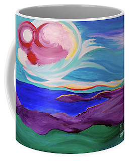 Coffee Mug featuring the painting Angel Sky by First Star Art