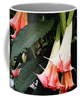 Pink Angel Trumpets  Coffee Mug by James C Thomas