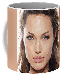 Angelina Jolie Portrait Coffee Mug