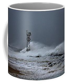 Coffee Mug featuring the photograph Angry Ocean In Ocean City by Bill Swartwout