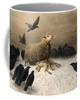 Coffee Mug featuring the painting Anguish by August Friedrich Schenck