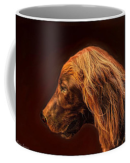 Coffee Mug featuring the photograph Angus Irish Red Setter by Wallaroo Images