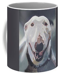 Coffee Mug featuring the painting Anna The Bullie by Eric Dee