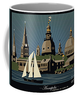 Annapolis Steeples And Cupolas Serenity With Border Coffee Mug