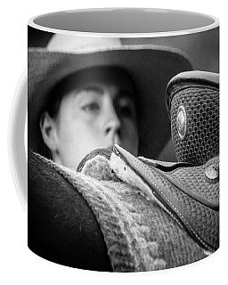 Coffee Mug featuring the photograph Annie's Saddle by Steven Bateson