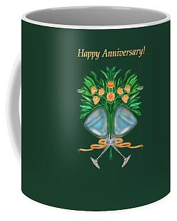 Coffee Mug featuring the digital art Anniversary Bouquet by Christine Fournier