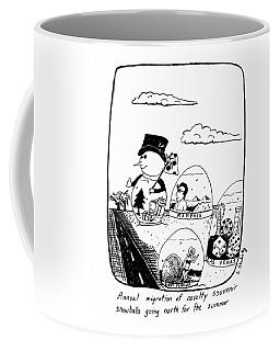 Annual Migration Of Novelty Souvenir Snowballs Coffee Mug