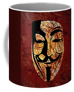 Anonymous Coffee Mug by Ally  White