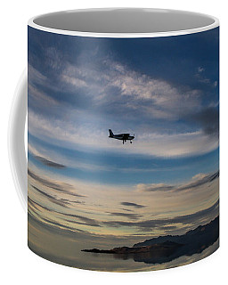 Coffee Mug featuring the photograph Antelope Island - Lone Airplane by Ely Arsha