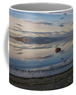 Coffee Mug featuring the photograph Antelope Island - Lone Tumble Weed by Ely Arsha