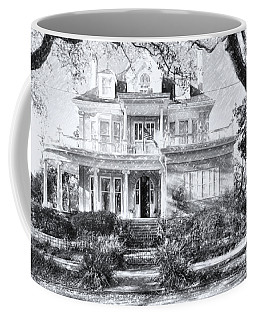 Anthemion At 4631 St Charles Ave. New Orleans Sketch Coffee Mug