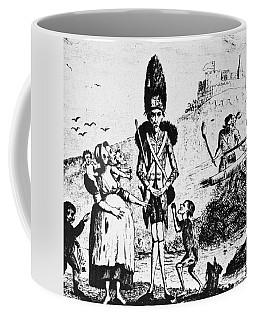 Anti-war Cartoon, 1775 Coffee Mug