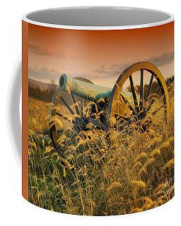 Coffee Mug featuring the photograph Antietam Maryland Cannon Battlefield Landscape by Paul Fearn