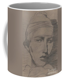 Coffee Mug featuring the drawing Antigone By Jrr by First Star Art
