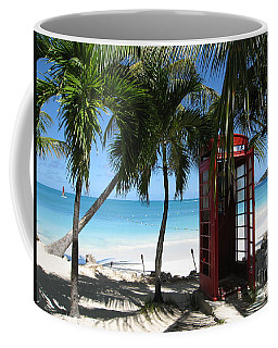Antigua - Phone Booth Coffee Mug by HEVi FineArt