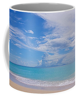 Antigua View Of Montserrat Volcano Coffee Mug