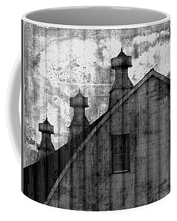 Antique Barn - Black And White Coffee Mug
