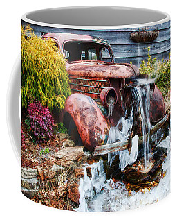 Antique Car Water Fountain Columbus Georgia Coffee Mug by Vizual Studio