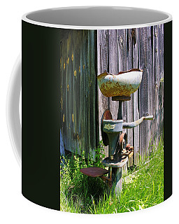 Coffee Mug featuring the photograph Antique Cream Separator by Sherman Perry
