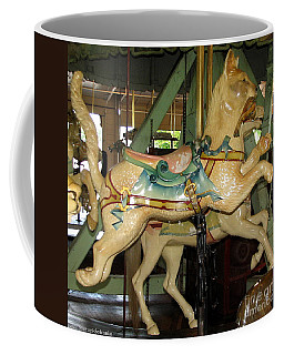 Coffee Mug featuring the photograph Antique Dentzel Menagerie Carousel Cat by Rose Santuci-Sofranko