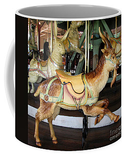 Coffee Mug featuring the photograph Antique Dentzel Menagerie Carousel Goat by Rose Santuci-Sofranko