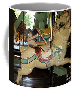 Coffee Mug featuring the photograph Antique Dentzel Menagerie Carousel Pigs by Rose Santuci-Sofranko