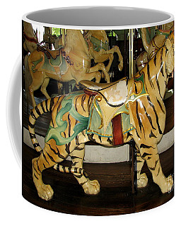 Coffee Mug featuring the photograph Antique Dentzel Menagerie Carousel Tiger by Rose Santuci-Sofranko