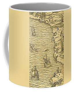 Antique Map Of Brazilian Coast Coffee Mug
