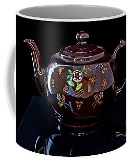 Antique Native American Teapot On Black Art Prints Coffee Mug
