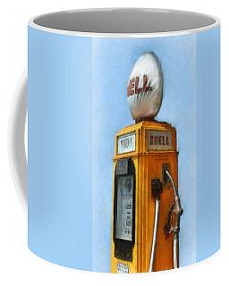 Antique Shell Gas Pump Coffee Mug