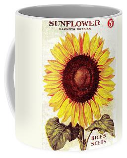 Antique Sunflower Seeds Pack Coffee Mug